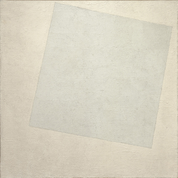 Kazimir Malevich, Suprematist Composition: White on White, 1918, Oil on canvas, 31.25 x 31.24 in. © Artist's Estate. Image: MoMA. Please read our Fair Use disclaimer.