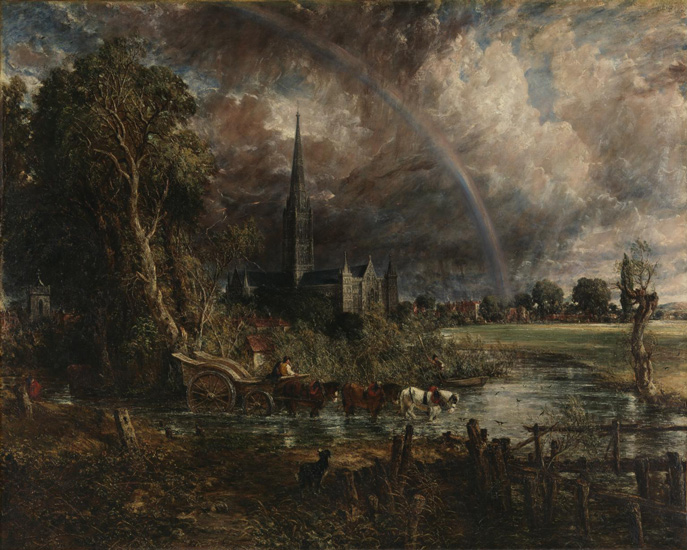 Constable, Salibury Cathedral From the Meadows 1831