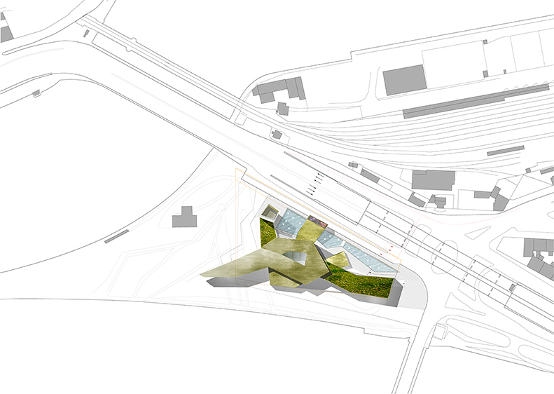 Musée Des Confluences, Lyons, concept drawing, 2001. © Steven Holl. Courtesy Steven Holl Architects.