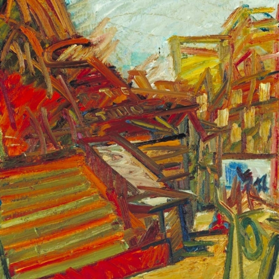 All the paintings are a result of crisis&#8230;<br />Frank Auerbach: A Compendium