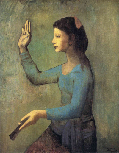 "Pablo Picasso, ""Lady with a Fan (Femme à l'éventail)"", 1905"
